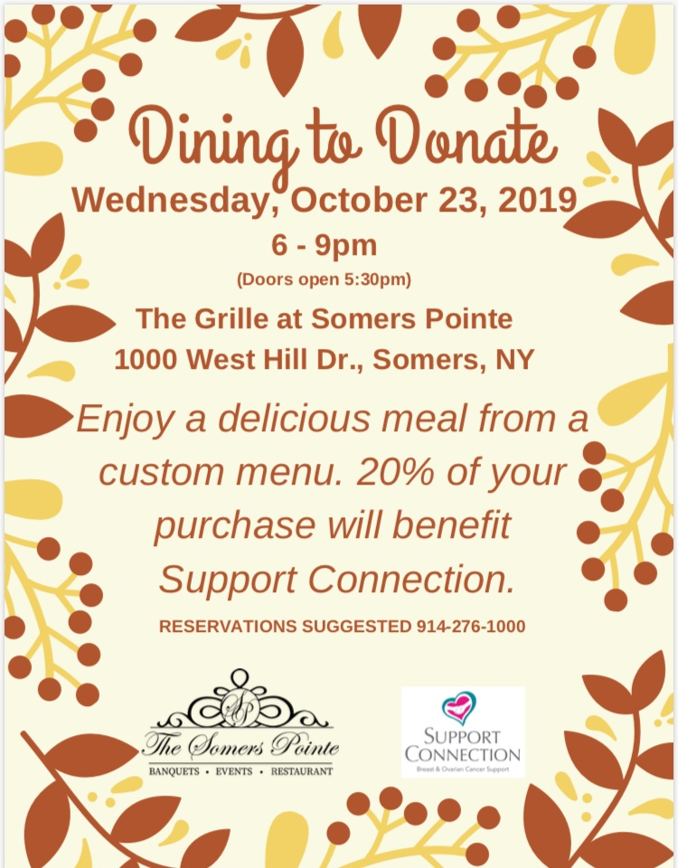 Dine to Donate Event Details- The Somers Pointe & The Grille at Somers Pointe