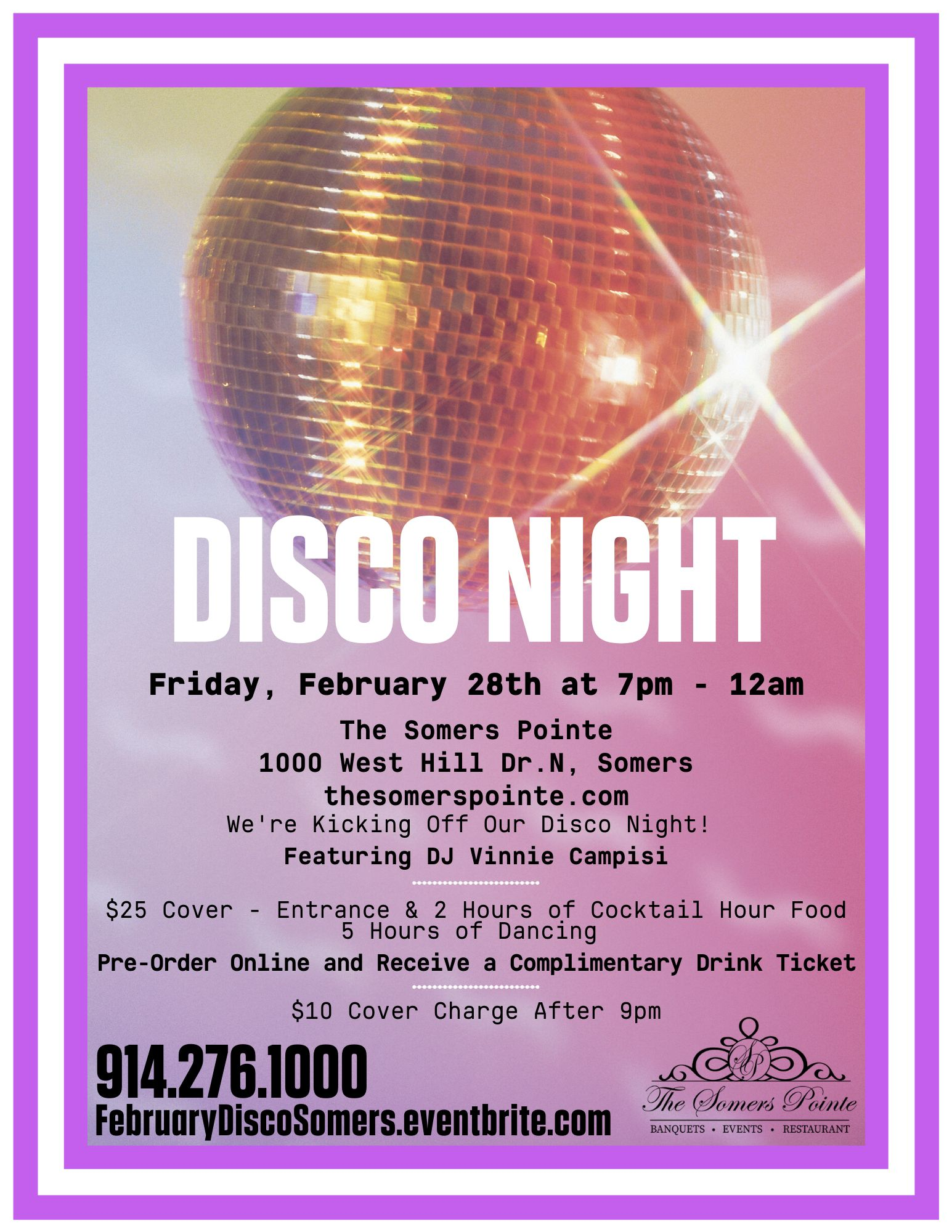 70s and 80s Disco Featuring DJ Vinnie Campisi Event Details at The Somers Pointe & The Grille at Somers Pointe