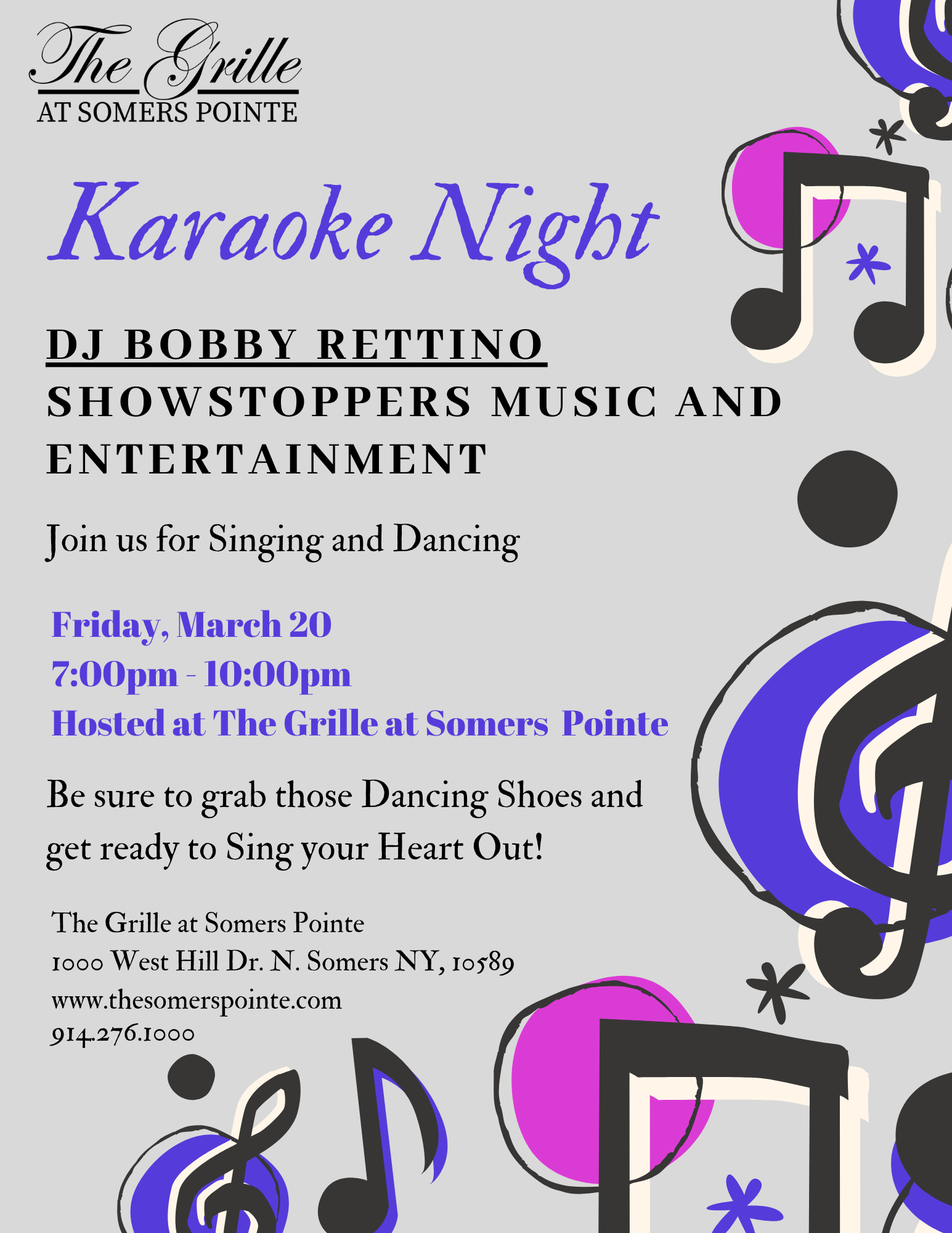 Karaoke Night Event Details- The Somers Pointe & The Grille at Somers Pointe