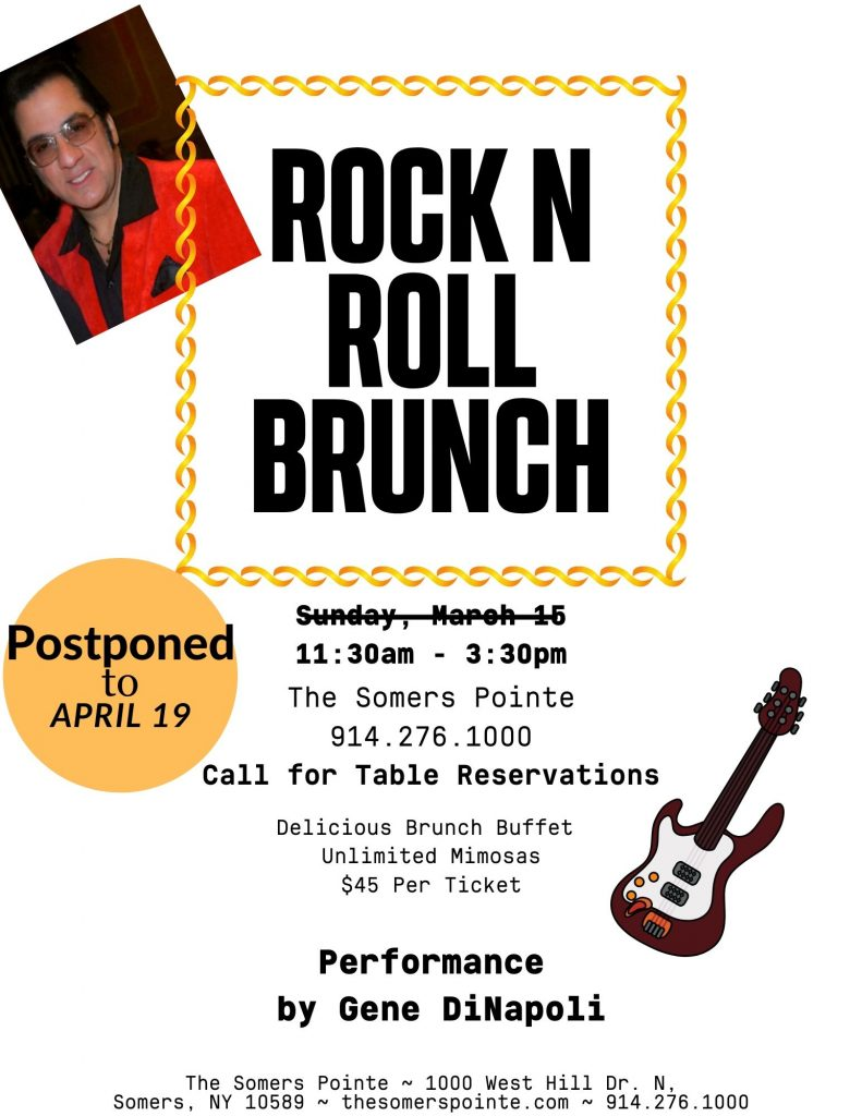 Rock N Roll Brunch Feat. Gene DiNapoli at The Somers Pointe & The Grille at Somers Pointe
