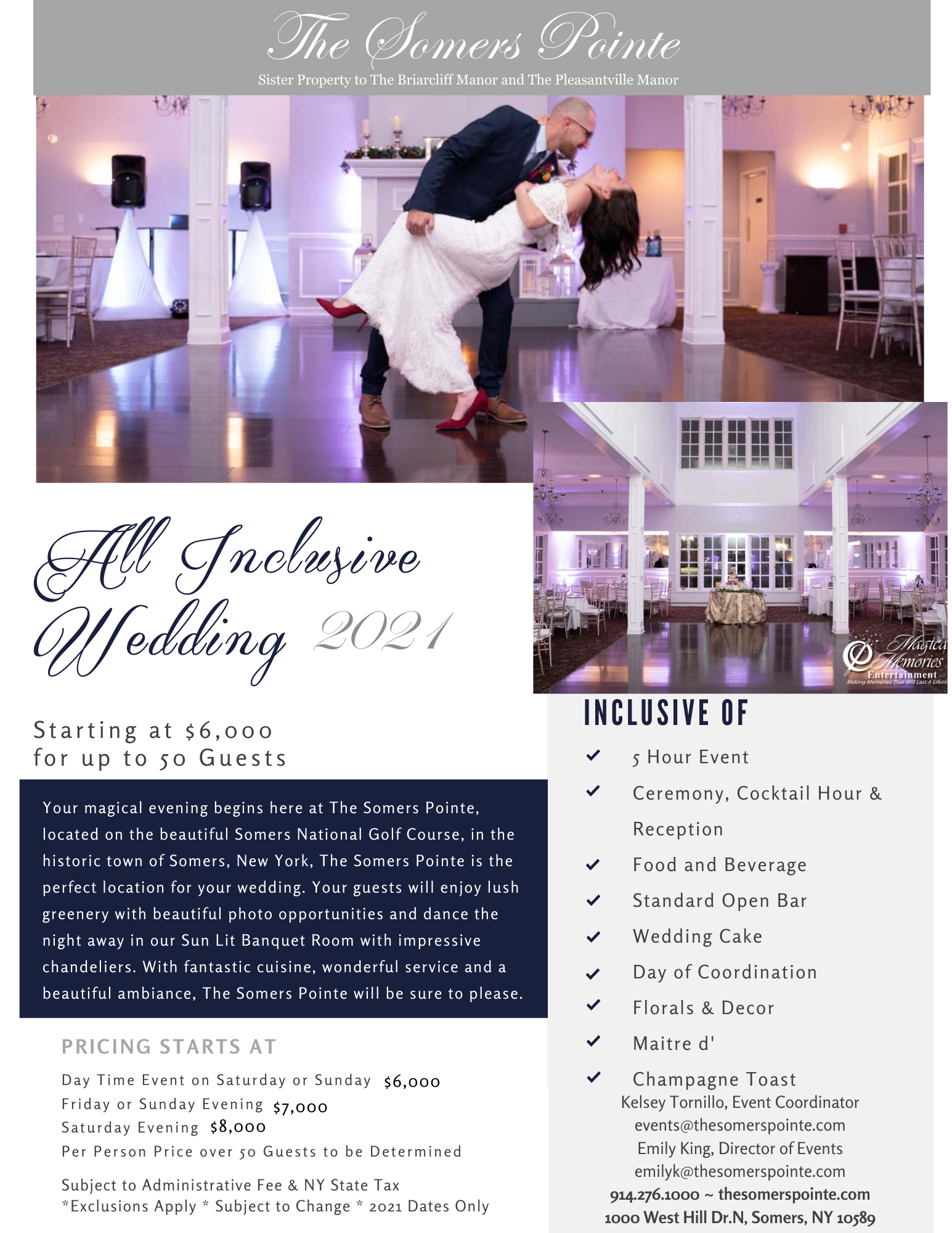 Wedding Venue offer at The Somers Pointe & The Grille at Somers Pointe