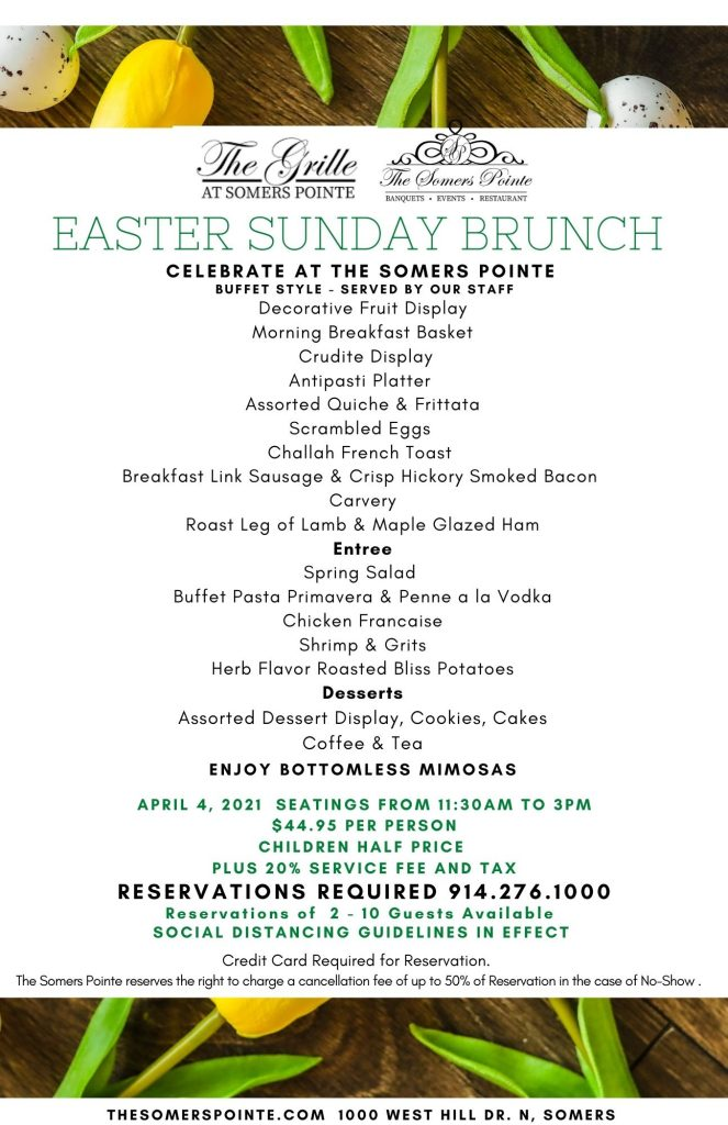 Easter Sunday Brunch at The Somers Pointe & The Grille at Somers Pointe